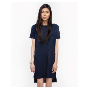 T by Alexander Wang Boatneck Dress With Pocket